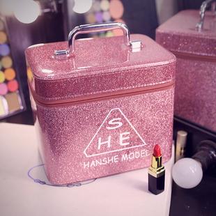 化妆包女便携大容量多功能化妆品收纳盒网红ins风超火大号小号箱