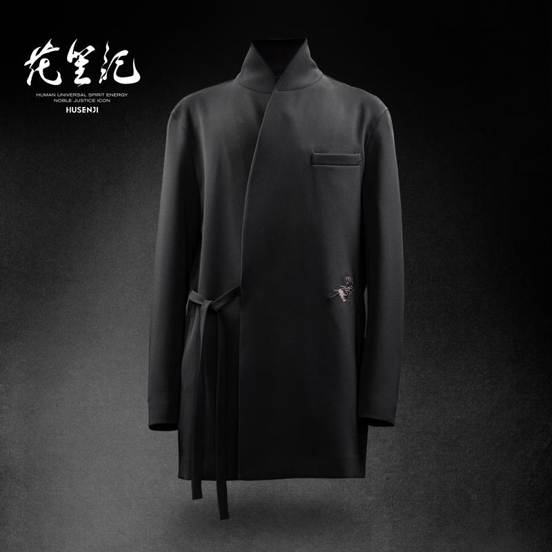 花笙记HSJ中国风轻奢国潮H8麒麟刺绣汉西(汉服x西服)中式商务男装