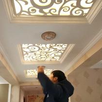 雕花板鏤空吊頂pvc隔斷客廳過道走廊玄關通花格屏風中式造型裝飾