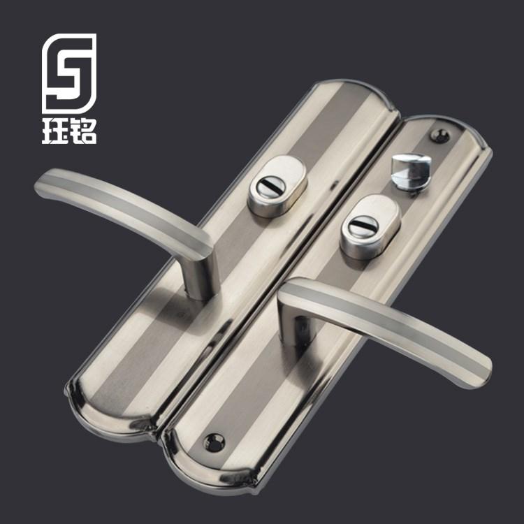 门把手拉手防盗门通用型手柄老式门锁配件实心手柄加厚面板