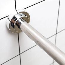 304md0打孔伸缩cs室卫生间浴帘浴柜挂衣杆门窗帘支撑杆
