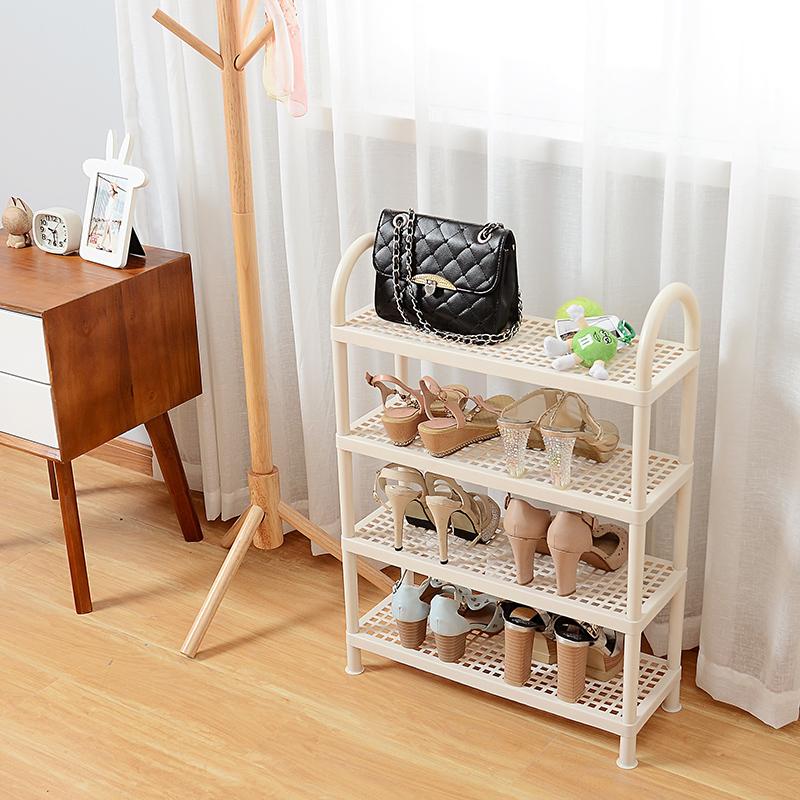 日式塑料鞋架经济型简易多层宿舍寝室鞋子收纳架现代简约家用鞋柜
