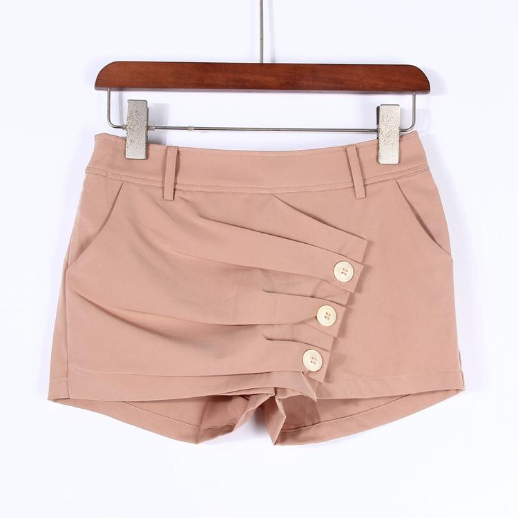 清仓特价【诗】品牌专柜撤柜女装新夏季时尚设计短裤热裤1D042