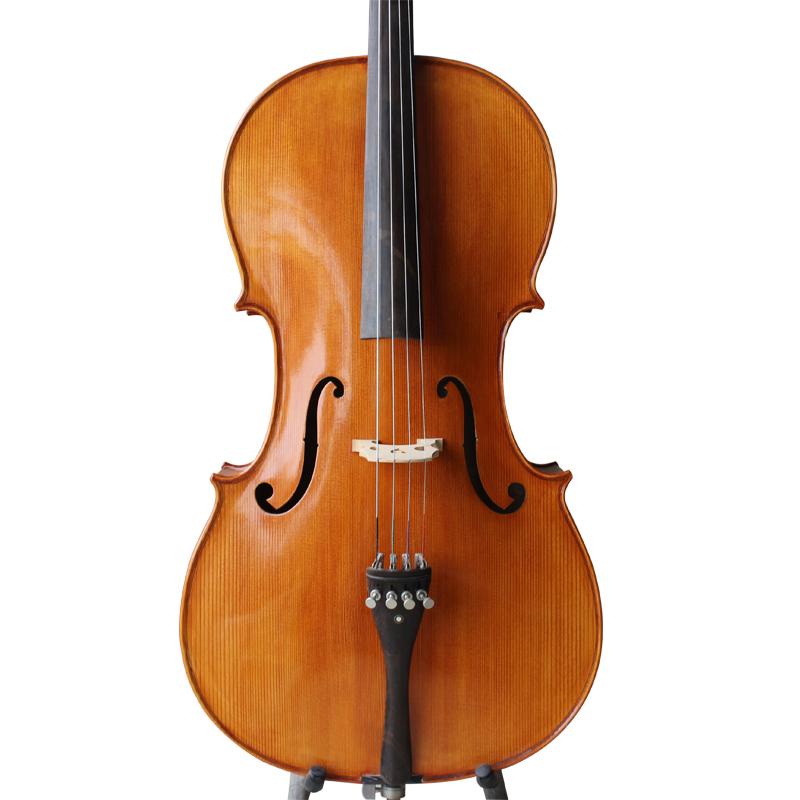 星悦纯手工高档大提琴初学考级演奏大提琴制作师出品意大利工艺
