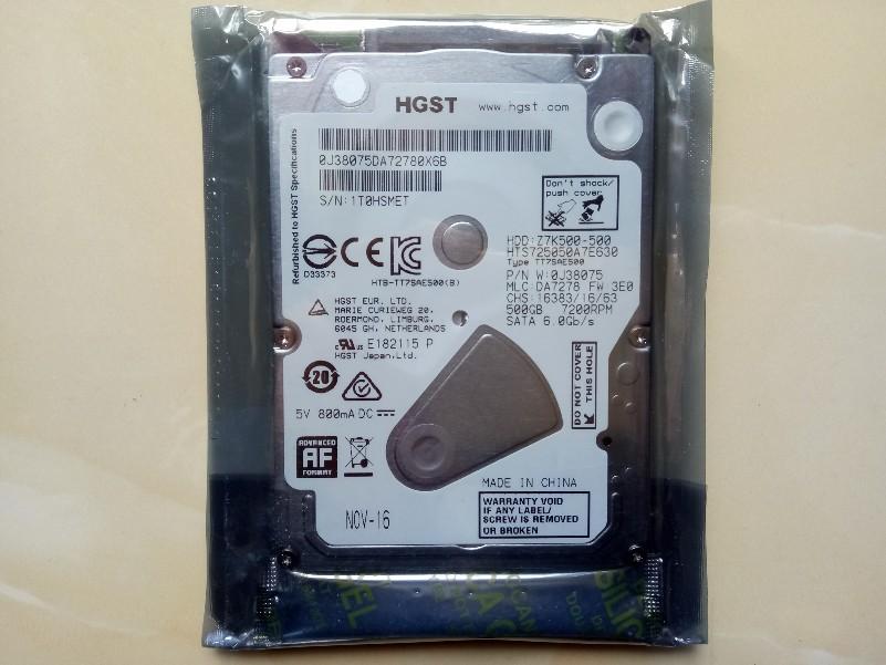 7MM单碟SATA3代全新日立正品2.5寸7200转32M 500G笔记本电脑硬盘