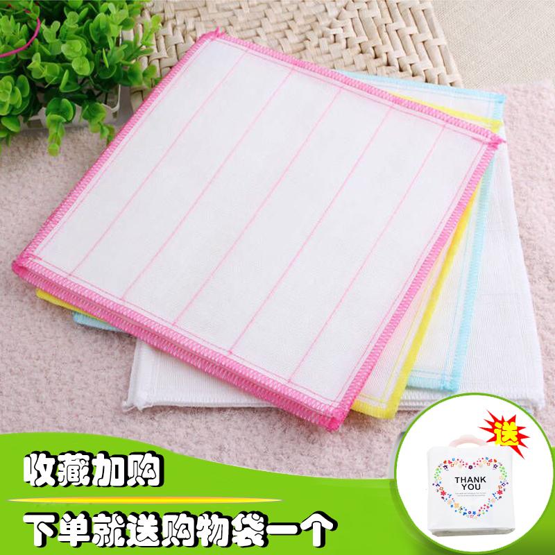 5层8层全棉加厚纯棉不沾油抹布家用吸油百洁布吸水不掉毛洗碗布