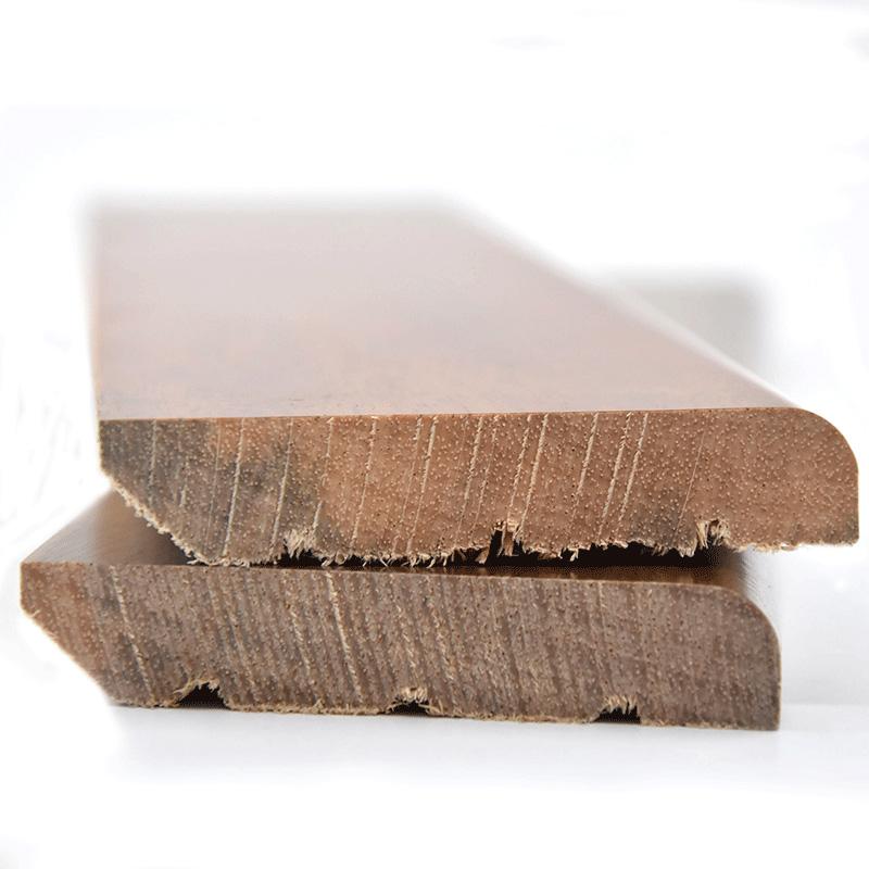 原木地板番龙眼踢脚线灰纯实木黑平板白简约北欧装饰客厅贴地脚线