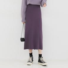 金大班从梦2020春季新款气质高腰松紧针织包臀半身裙子女显瘦中长