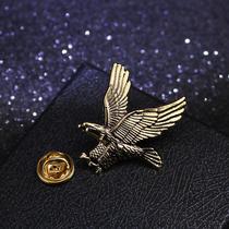 包邮男士小鹰胸针欧美潮人别针扣个性复古霸气老鹰徽章西服配饰品