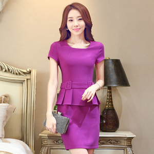 Summer OL professional dress dress temperament fashion waitress hotel jewelry store beautician overalls style
