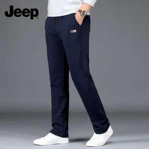 Autumn and winter new JEEP casual plus velvet large size loose straight Jeep men's flagship guard pants sports cotton pants
