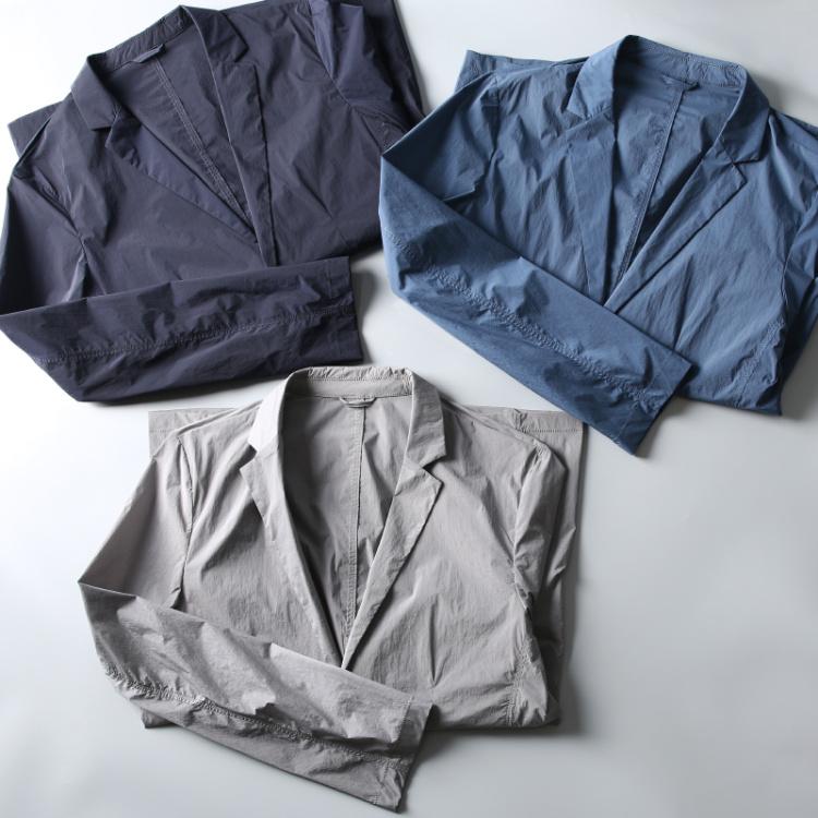 夏季新款 科技速干弹力透气面料 男士修身休闲薄款西装男单西外套