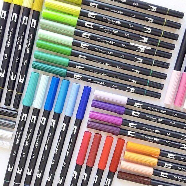 日本蜻蜓文具 Tombow Dual Brush Pen ABT 彩色毛笔水彩笔手帐笔