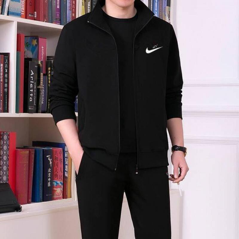 夏季韩版男士休闲运动套装青少年印花百搭帅气圆领短袖两件套22P