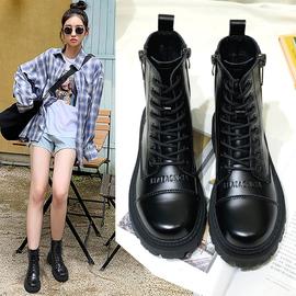 马丁靴女春秋单靴2020年新款英伦风潮ins厚底靴子女秋冬加绒短靴