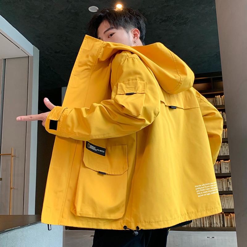 外套男19新款男士工装风上衣韩版潮流学生帅气夹克A132-9008P75