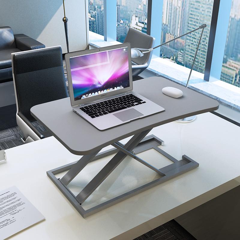 站立式电脑升降桌笔记本台式电脑桌子站立办公工作台桌面增高架子