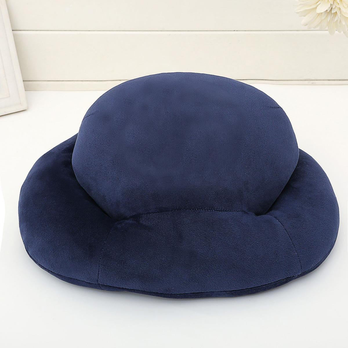 纯色藏青午睡枕