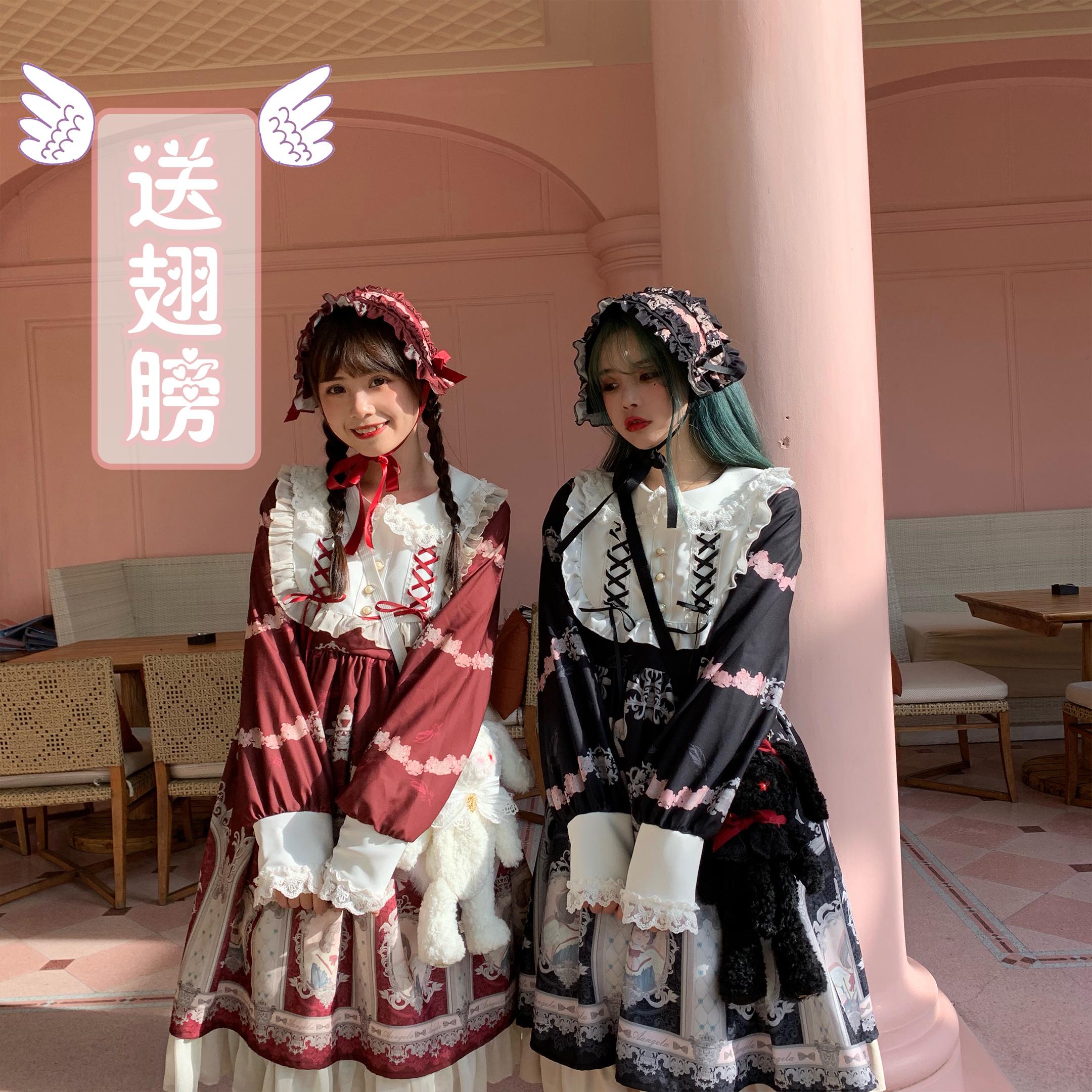 【森女想去海边】歌颂天使 原创春日吊带裙软妹萝莉 op连衣裙