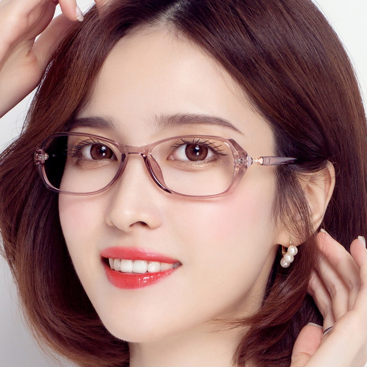 近视眼镜女可配度数防蓝光辐射变色眼镜女镶钻全框优雅专业配镜女