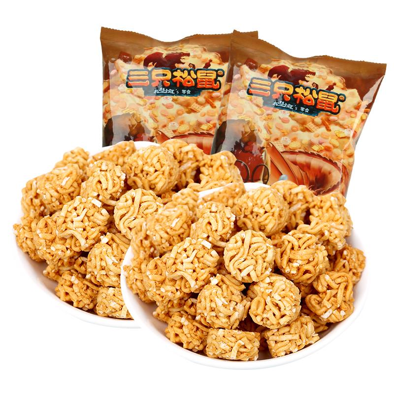 三只松鼠 拉面丸子85gx2零食膨化小吃干脆面方便面
