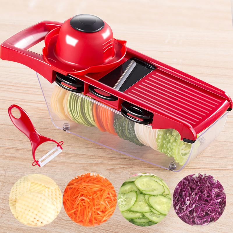 万年利土豆丝切丝器家用厨房用品多功能切菜器擦丝刨丝切片器神器