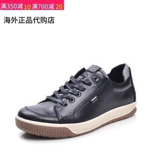 Ecco/爱步男鞋2020春新款真皮户外运动休闲百搭鞋系带男板鞋图片