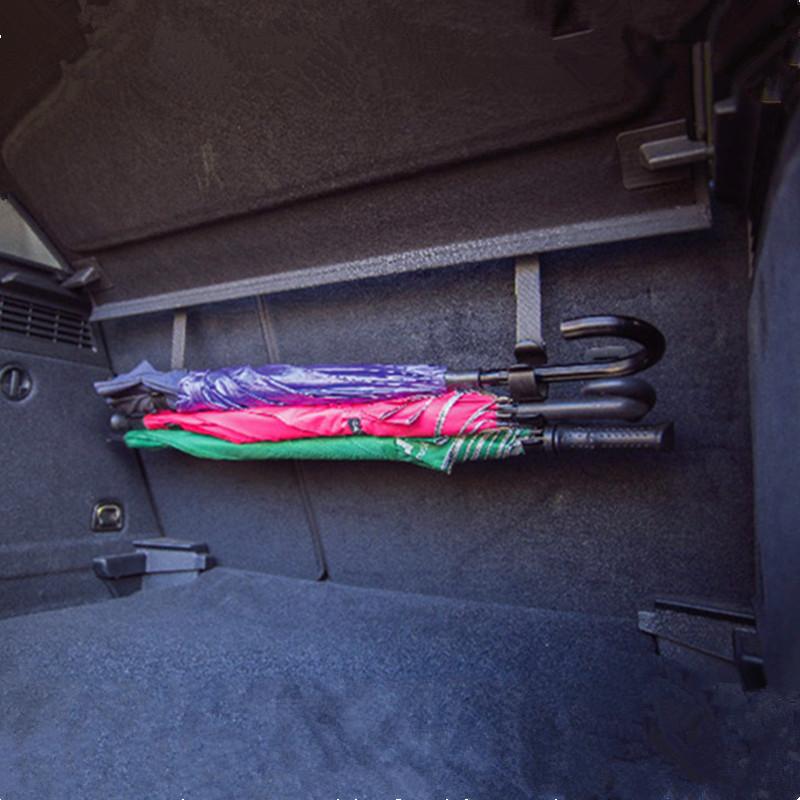 TYPER汽车雨伞挂钩座椅背置物 后备箱车载隐藏式多功能车用收纳架