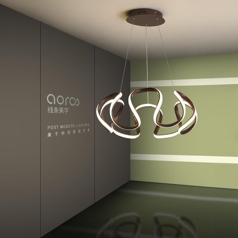 个性时尚简约餐厅吊灯 现代创意卧室吊灯led艺术黑吧台客厅灯具-奥伦司家居旗舰店