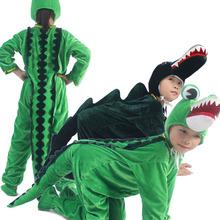 六一节新式促销男女ha6童舞蹈演ie学生短式动物鳄鱼表演服装