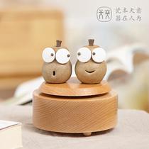 手摇八音盒音乐盒木质创意天空之城女生生日礼物情人节礼品定制