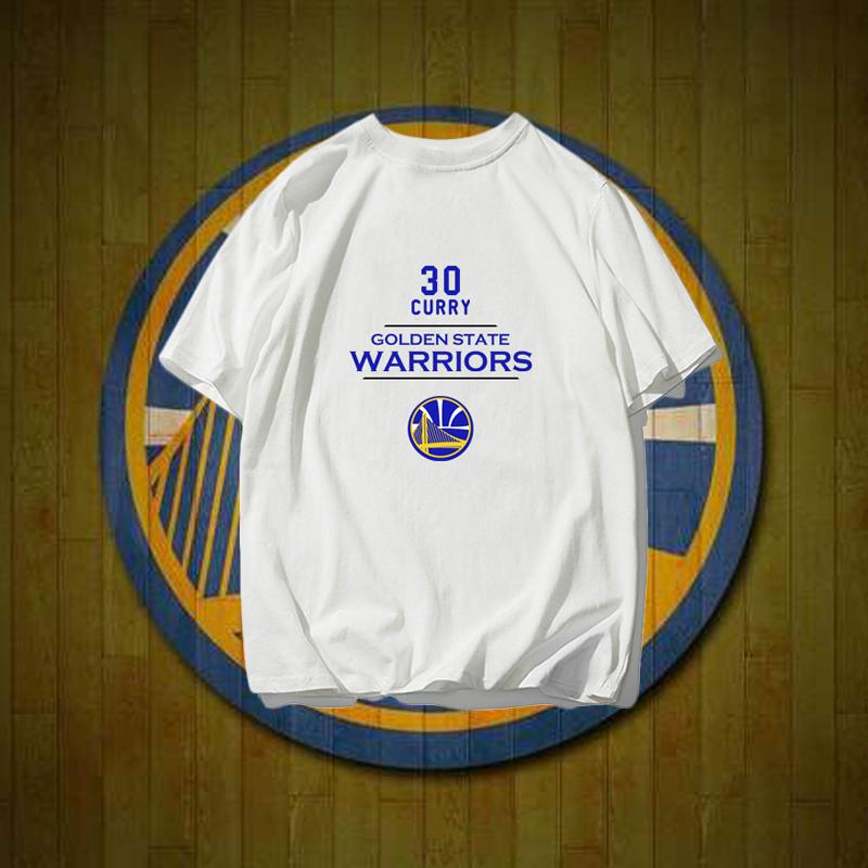金州勇士队服库里总冠军纪念衫夏季纯棉篮球运动短袖t恤衫半袖T恤