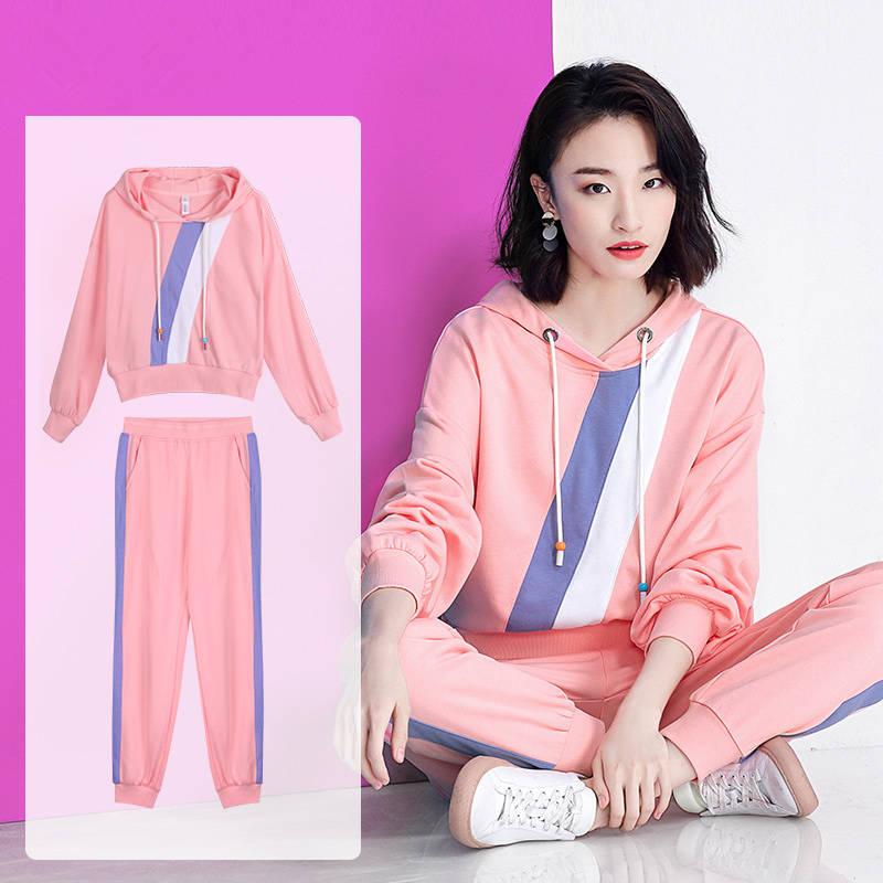 99两件套运动服套装女2019新款秋季学生韩版宽松休闲装卫衣上衣裤