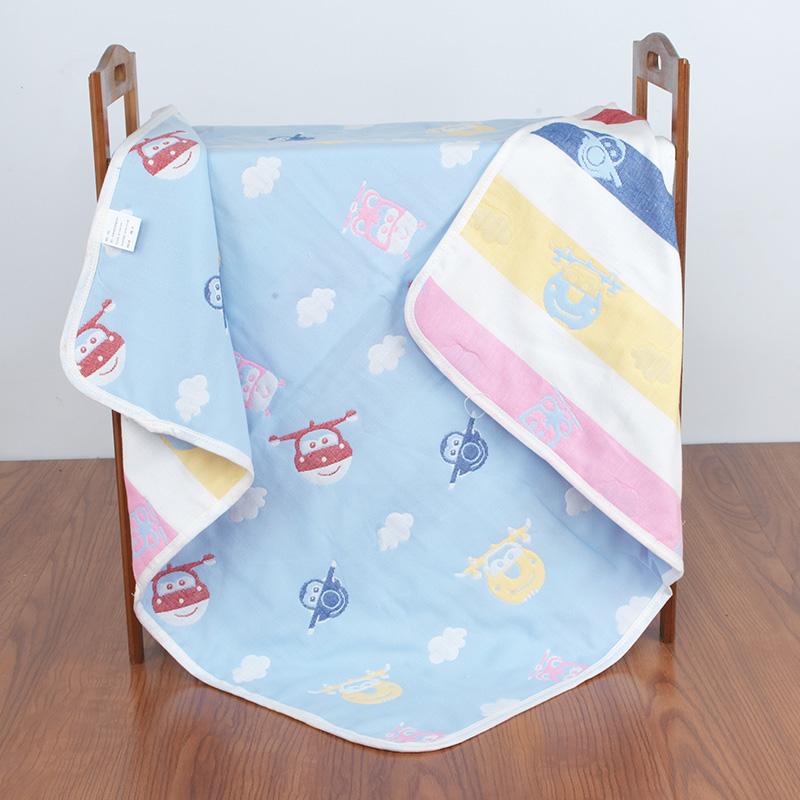 婴儿浴巾 宝宝儿童6层纱布毛巾被 新生儿纯棉大盖毯加厚