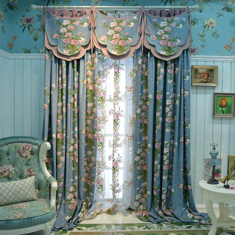 田园美式窗帘客厅卧室遮光窗帘成品亚棉麻落地窗帘布 托斯卡纳