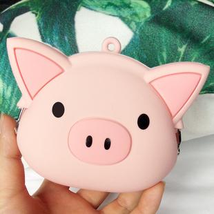 可爱零钱包女小学生奖品儿童礼物创意小猪硅胶硬币包零钱袋包邮图片
