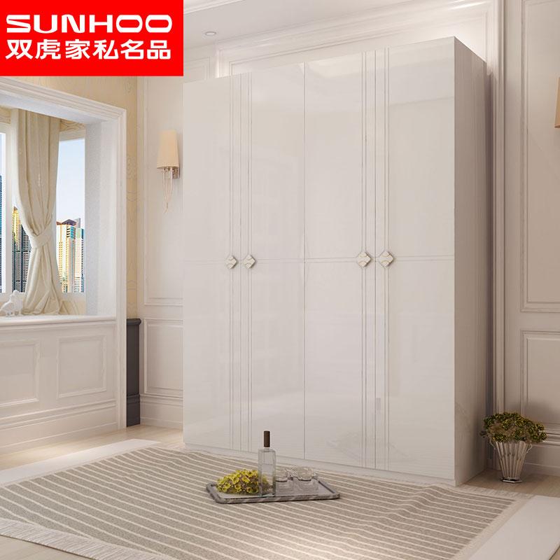 双虎家私 柜子4门衣柜现代简约卧室经济型板式衣橱大衣柜15BJ1