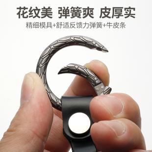 时尚个性创意花纹金属环弹簧圆圈钥匙扣汽车锁匙包包链条卡扣挂件图片