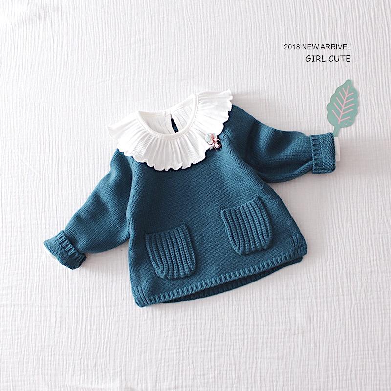 女童毛衣秋冬宝宝毛衫宽松1-3岁2婴儿套头加厚针织衫外套公主韩国