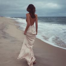 沙滩裙2020新款超仙性感in10身吊带ze裙海边度假旅拍连衣裙