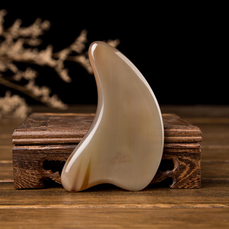 越南白水牛角加厚小海豚刮痧板 面部全身颈部提升紧致皮肤美容片