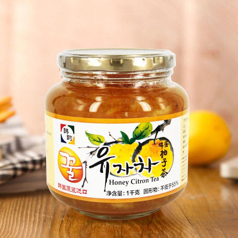韩国原装进口韩韵蜂蜜柚子茶1KG韩国风味水果下午茶冷饮热饮美味
