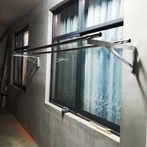 陽台晾衣架固定式室外架單雙桿外牆窗外曬熱鍍鋅角鐵鋼不銹防盜網