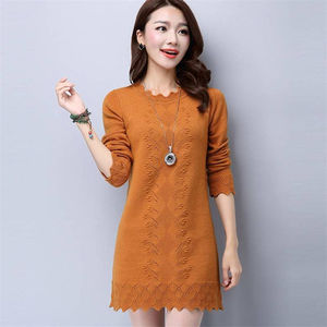 27 mid-length pullover sweater women's loose Korean version of the tide sweater long-sleeved bottoming shirt ladies autumn and winter clothing new