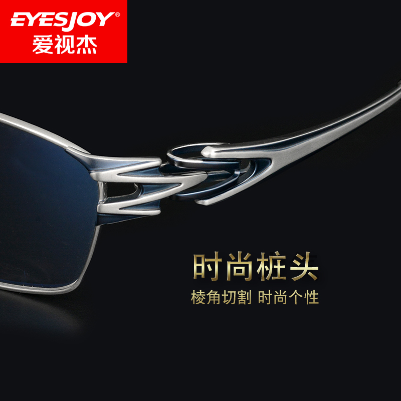 近视眼镜男士商务纯钛全框眼镜框超轻大脸宽可配有度数变色近视镜