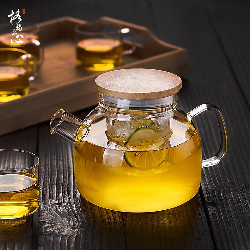 ✅玻璃茶壶加厚耐高温玻璃水果花茶茶壶茶具套装过滤泡茶壶煮茶壶