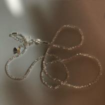 上新85折】白银色~波光粼粼 意大利进口闪光素链裸链通体纯银项链