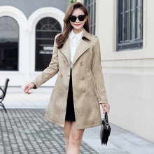 2021秋装新式大kc6女装胖妹an款加肥加大设计感休闲风衣外套