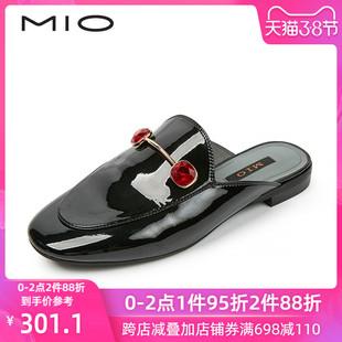 MIO米奥女鞋 春秋宝石装饰低跟舒适穆勒外穿女拖鞋M194200462