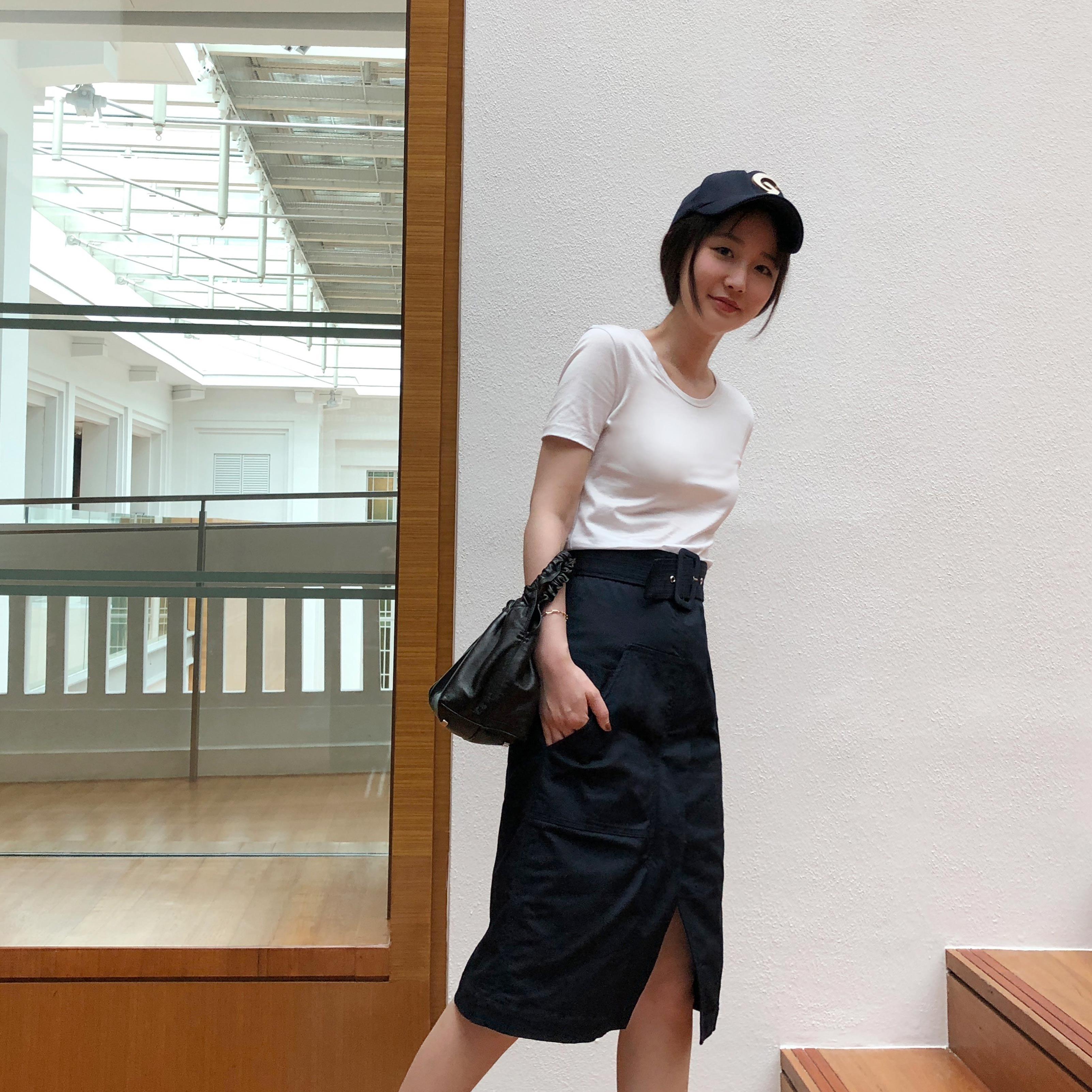 sundaymerry 18夏|四色天丝棉光泽t恤女圆领短袖